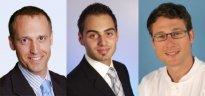 v.l.n.r. PD Dr. Niklas Iblher, PD Dr. Vincenzo Penna, PD Dr. Steffen Eisenhardt